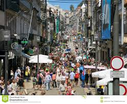 Santa Catarina - the main shopping street in Porto (with a great art store, too!)